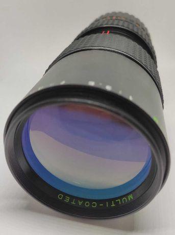 Objectiva Auto Makinon 80-200mm f/3.5 Zoom Macro FD