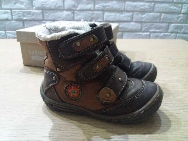 Lasocki buty trzewiki zimowe dla chłopca r.23 ocieplane na rzepy bucik