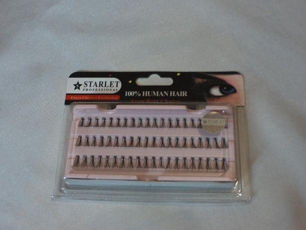 Накладные ресницы пучками для наращивания StarletProfessional (средние
