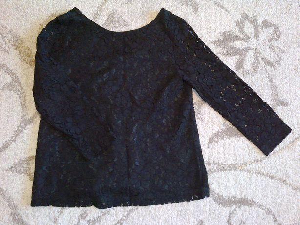 stefanel bluzka M czarna koronkowa