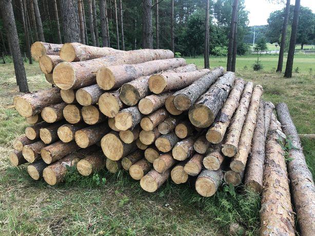 Drewno na deski, stemple, kantówki, słupki