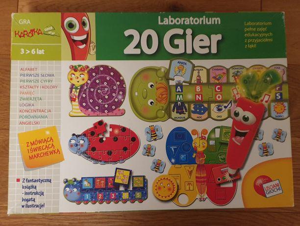 Gra puzzle Laboratorium 20 Gier Lisciani Karotka z mówiącą marchewką