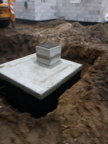 Szambo betonowe 4000 małe na ścieki przydomowe Atest