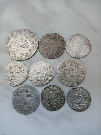 Zestaw srebrnych monet