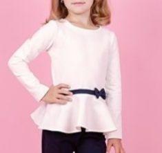 Блузка с баской для девочек блуза  ріст розмір 140