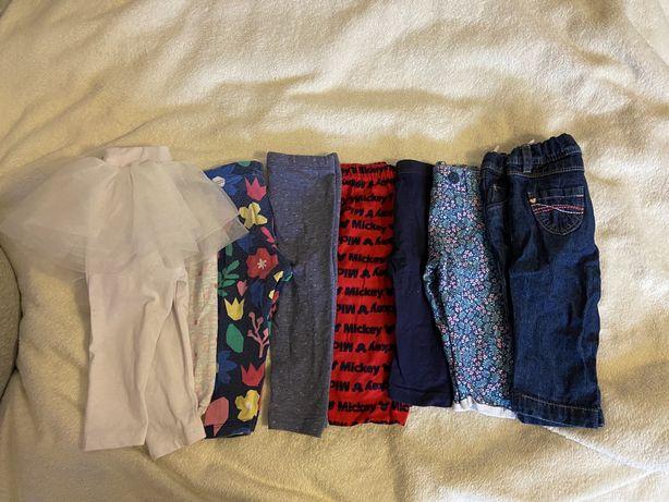 Zestaw spodni legginsów dla dziewczynki 3-6 m 62-68 cm 8 sztuk