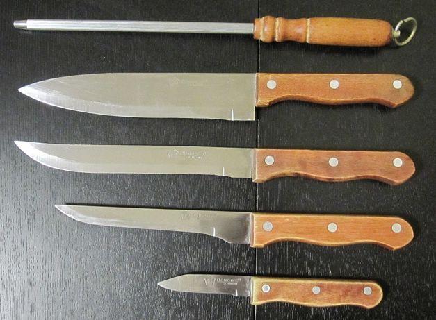 Ножи на подставке с точилкой