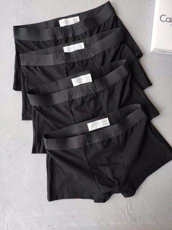 Мужские трусы боксёры Calvin klein, Icon, Armani, Versace TOTAL BLACK