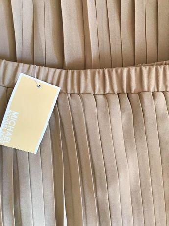Спідниця юбка міді беж шифон плиссе плісирована Мichael Кors