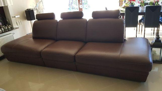 Sofa kanapa naturalna skóra dł -3,17