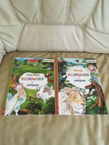 Nowa książka Schleich Farma, Dzikie zwierzęta Kolorowanka z naklejkami