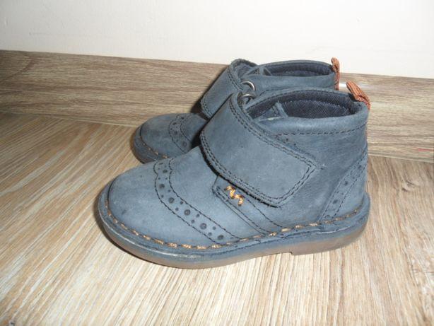 NEXT Granatowe Buty Trzewiki Chłopięce Rozmiar 22 (UK 5) na rzepy