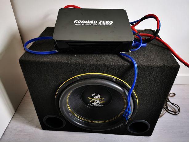 Subwoofer Ground Zero + Amplificador Ground Zero