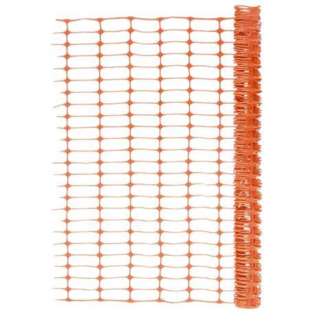 vidaXL Cerca/rede de vedação para jardim 30 m laranja 150684