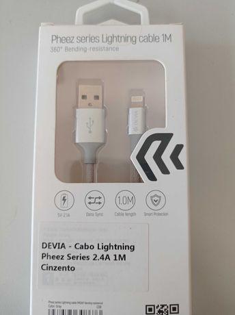 Devia- Cabo Lightning USB 2.0 Apple 1 metro (Caixa Selada)