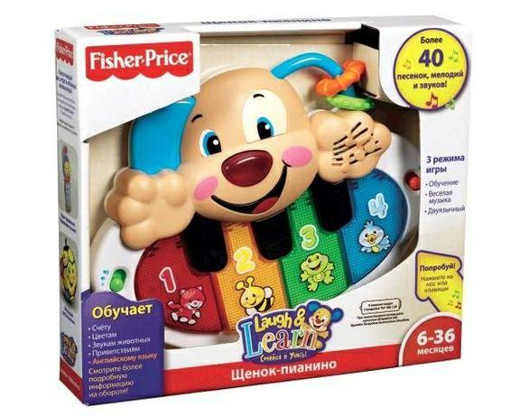 Развивающая игрушка Fisher-Price Пианино умного щенка (русско-английск