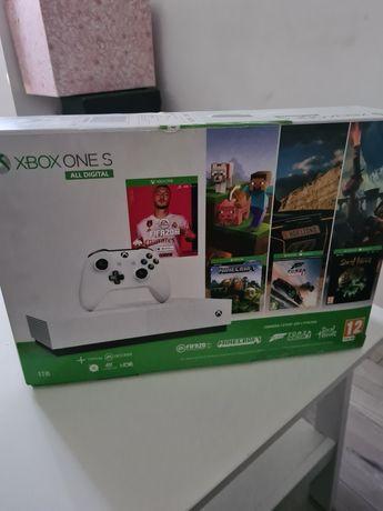 Xbox ONE S All Digital 1TB plus dwa pady