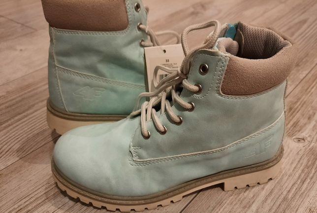 Nowe z metką buty jesień zima 4f r. 33 miętowe