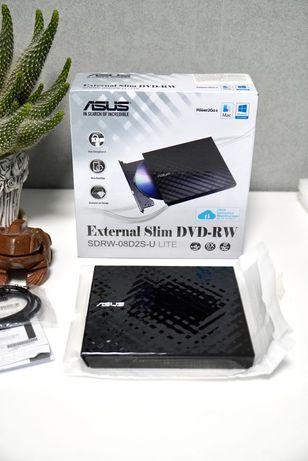 Внешний CD DVD ROM ASUS. Новый, подключение USB. 2020год