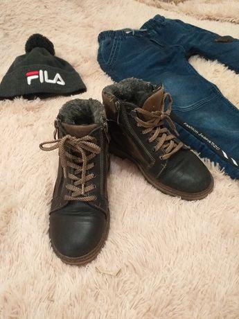 Сапоги ботинки зимние натуральная кожа