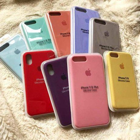 Чехол Iphone Silicone Case 12 6 6s 7 8 plus X Xs Xr 11 Pro Max Стекло