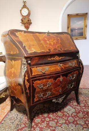 Escrivaninha Papeleira Secretária Cómoda Escrevaninh Luís XV Pau-santo