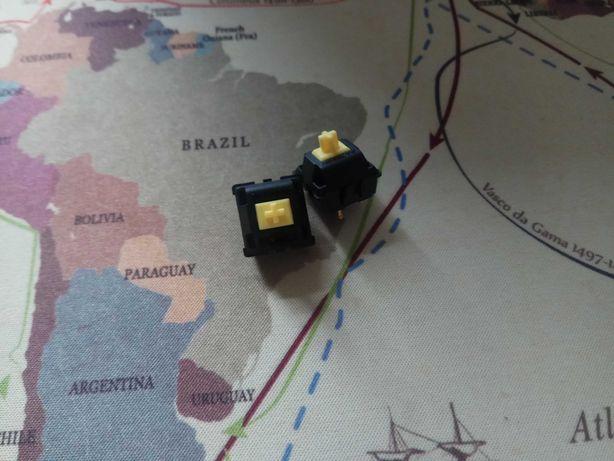 2 sztuki Switch przełącznik gateron yellow żółty linear ks3