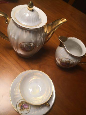 Conjunto 6 chav porcelana viana antigo