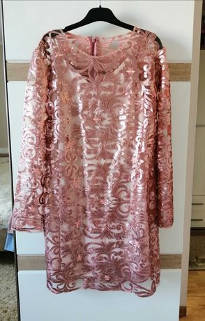 Cekinowa sukienka miss selfridge roz 44 sylwester wesele święta
