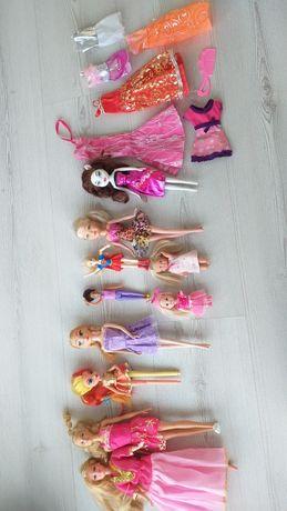 Lalki laleczki duzy zestaw + sukienki ubranka
