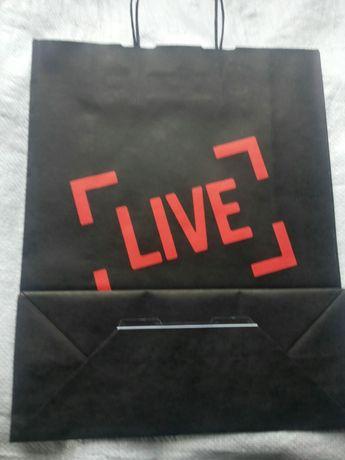 Пакет подарочный черный подарунковий итальянский live italia