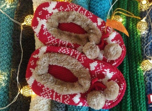 Тапочки з оленями, розмір 34-35