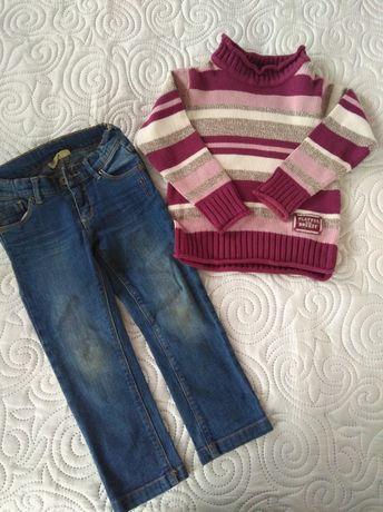 Komplet spodnie i sweterek r. 104