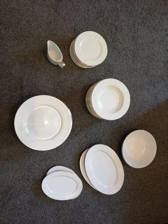 Zestaw obiadowy na 12 osób, porcelana Ćmielów