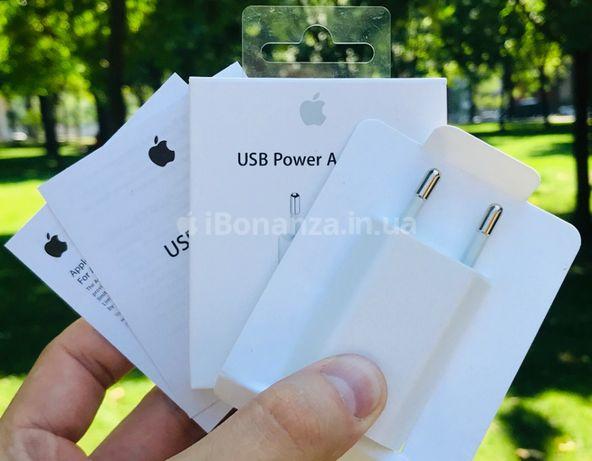Зарядной блочек ОРИГИНАЛ  Apple 5w iPhone 4 5 6 7 зарядка айфон 5s 6s