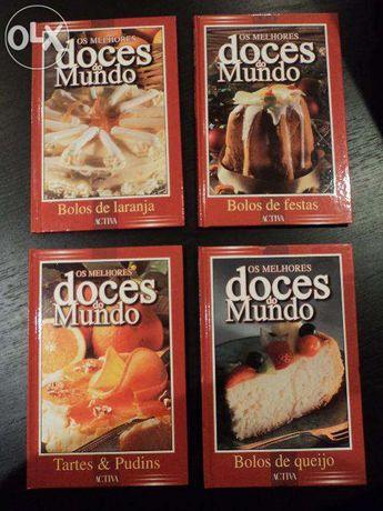 Lote de 4 livros: «Os melhores doces do mundo»