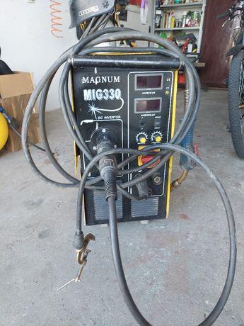 Migomat magnum 330 amper  +2 butle CO2  8kg