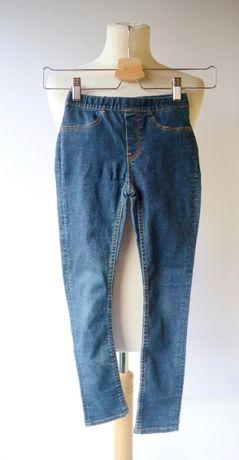 Tregginsy Dzinsowe Jeansowe H&M 122 cm 6 7 lat Leggins Spodnie Rurki