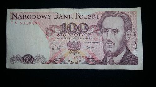 Banknot 100zł PRL z 1988r