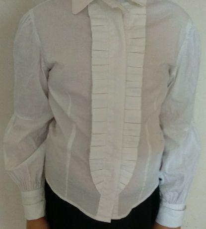 Блузка школьная на девочку 140см