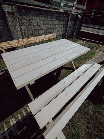 Zestaw ogrodowy drewniany