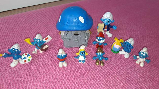 Casa e Bonecos dos Estrufes de Coleção (Smurfs) PVC SCHLEICH