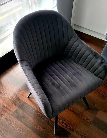 Nowy szare krzesło.