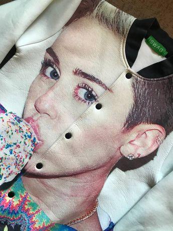 Бомбер Miley Cyrus ( Майли Сайрус ) Iswag Burberry Ed Hardy