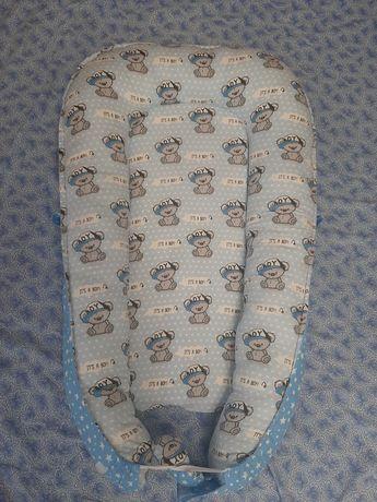 Кокон позиционер двусторонний для новорождённых с матрасом