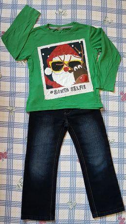 Ubrania chłopięce 110 Oryginalne Bluza Spodnie Koszulka Kurtka