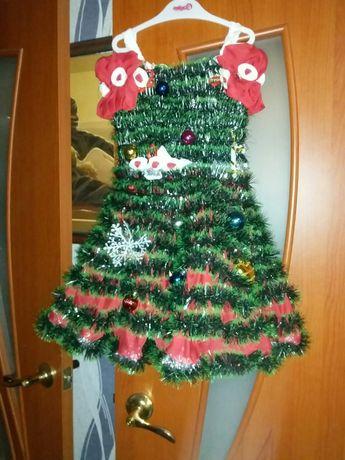 Новогодняя платья ёлочка.