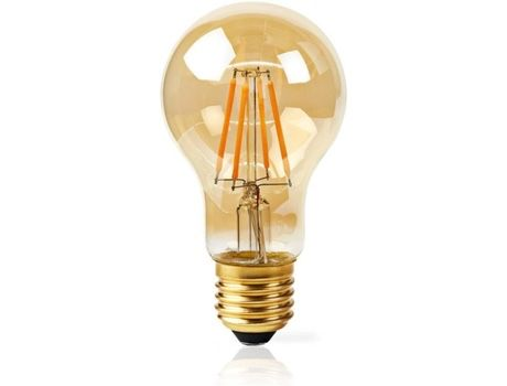 Lampada smart life nedis filament dourada inteligente controlo remoto