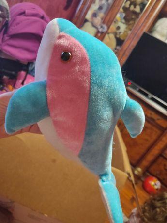 Дельфин мягкий новый