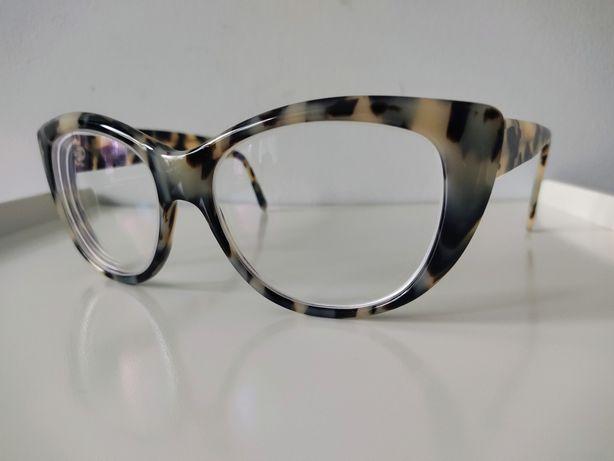 Okulary korekcyjne Oprawki Retro Koty Kocie Okulary w Panterkę Vintage
